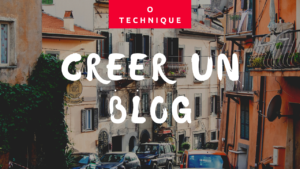 blog sans competence technique